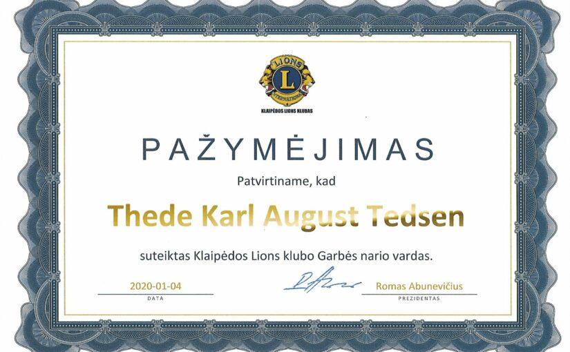 Thede Tedsen wird Ehrenmitglied