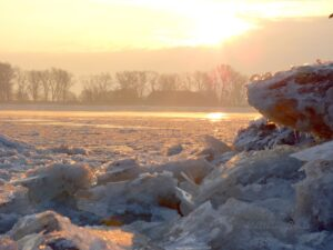 Die Weser bei Brake, Foto: Matthias Grube